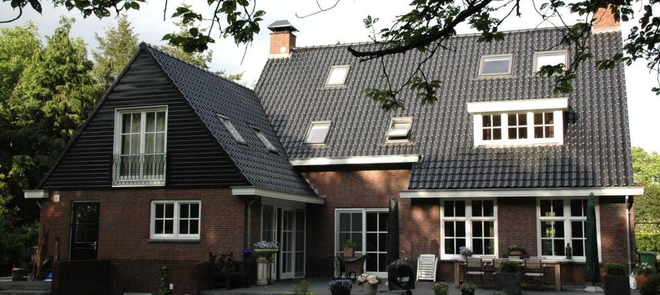 Landhuis in Huizen - achtergevel